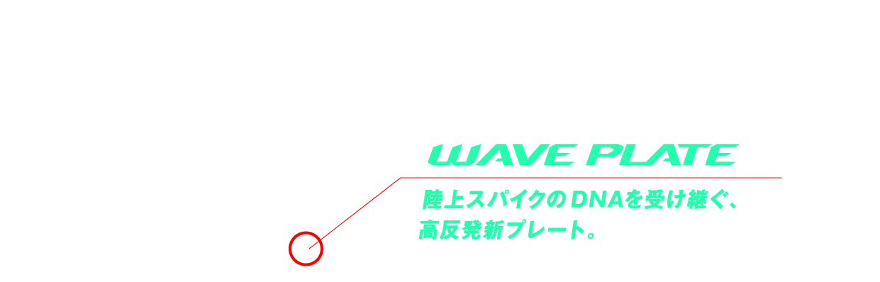 WAVE PLATE 陸上スパイクのDNAを受け継ぐ、高反発新プレート